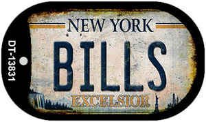 Bills Excelsior New York Rusty Wholesale Novelty Metal Dog Tag Necklace