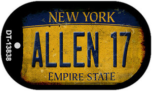 Allen 17 New York Yellow Wholesale Novelty Metal Dog Tag Necklace