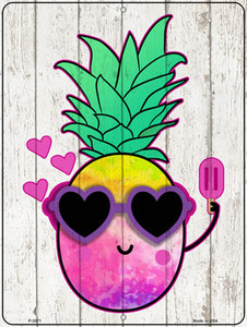Watercolor Pineapple Wholesale Novelty Metal Parking Sign
