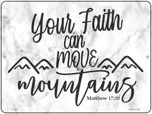 Move Mountains Bible Verse Wholesale Novelty Metal Parking Sign