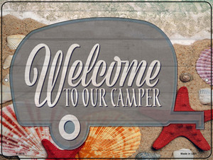 Welcome To Our Camper Wholesale Novelty Metal Parking Sign