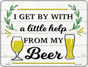 Help From My Beer Wholesale Novelty Mini Metal Parking Sign