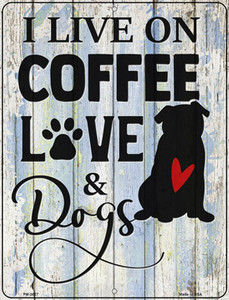 Coffee Love Dogs Wholesale Novelty Mini Metal Parking Sign