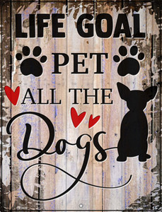Pet All The Dogs Wholesale Novelty Mini Metal Parking Sign
