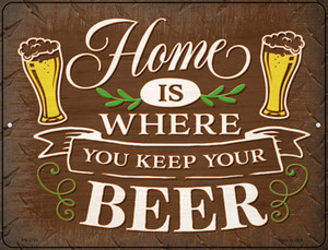 Keep Your Beer Wholesale Novelty Mini Metal Parking Sign