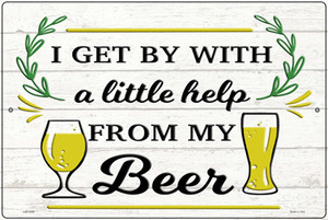 Help From My Beer Wholesale Novelty Large Metal Parking Sign
