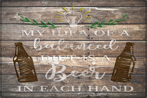 Beer In Each Hand Wholesale Novelty Large Metal Parking Sign