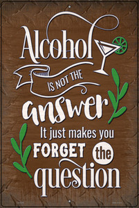 Forget The Question Wholesale Novelty Large Metal Parking Sign