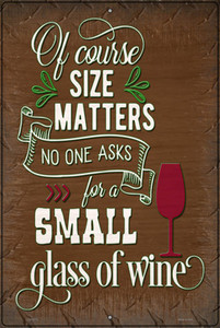 Small Glass Of Wine Wholesale Novelty Large Metal Parking Sign
