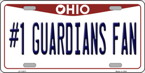 Number 1 Guardians Fan Ohio Wholesale Novelty Metal License Plate Tag