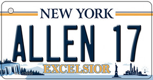 Allen 17 NY Excelsior Wholesale Novelty Metal Key Chain
