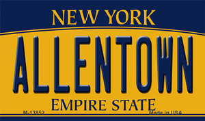 Allentown NY Yellow Wholesale Novelty Metal Magnet