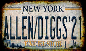 Allen Diggs 21 NY Excelsior Rusty Wholesale Novelty Metal Magnet