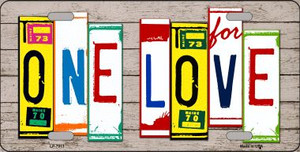 One Love Wood License Plate Art Novelty Wholesale Metal License Plate