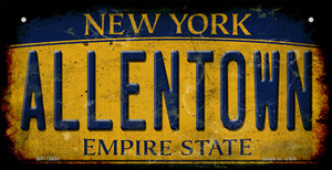 Allentown NY Yellow Rusty Wholesale Novelty Metal Bicycle Plate