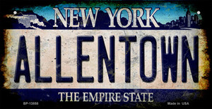 Allentown NY Blue Rusty Wholesale Novelty Metal Bicycle Plate