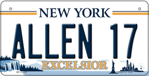 Allen 17 NY Excelsior Wholesale Novelty Metal Bicycle Plate