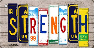 Strength Wood License Plate Art Wholesale Novelty Key Chain