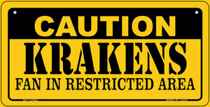 Caution Krakens Wholesale Novelty Metal Bicycle Plate