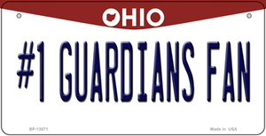 Number 1 Guardians Fan Ohio Wholesale Novelty Metal Bicycle Plate
