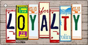 Loyalty Wood License Plate Art Wholesale Novelty Key Chain