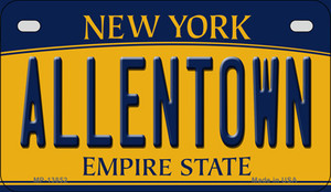 Allentown NY Yellow Wholesale Novelty Metal Motorcycle Plate