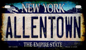 Allentown NY Blue Rusty Wholesale Novelty Metal Motorcycle Plate