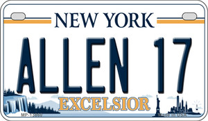 Allen 17 NY Excelsior Wholesale Novelty Metal Motorcycle Plate