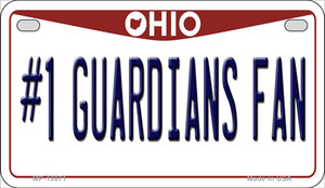 Number 1 Guardians Fan Ohio Wholesale Novelty Metal Motorcycle Plate