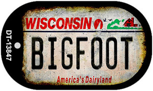 Bigfoot Wisconsin Wholesale Novelty Metal Dog Tag Necklace