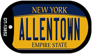 Allentown NY Yellow Wholesale Novelty Metal Dog Tag Necklace