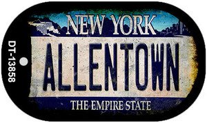 Allentown NY Blue Rusty Wholesale Novelty Metal Dog Tag Necklace