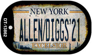 Allen Diggs 21 NY Excelsior Rusty Wholesale Novelty Metal Dog Tag Necklace