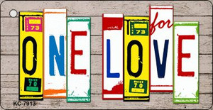 One Love Wood License Plate Art Wholesale Novelty Key Chain
