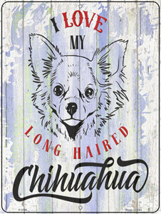 I Love My LH Chihuahua Wholesale Novelty Metal Parking Sign