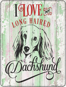 I Love My LH Dachshund Wholesale Novelty Metal Parking Sign
