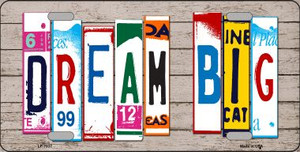 Dream Big Wood License Plate Art Novelty Wholesale Metal License Plate LP-7937