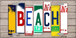 Beach Wood License Plate Art Novelty Wholesale Metal License Plate