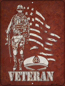 Veteran With Soldier Wholesale Novelty Metal Parking Sign