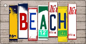 Beach Wood License Plate Art Wholesale Novelty Key Chain
