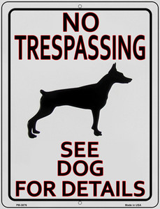 See Dog For Detail Wholesale Novelty Mini Metal Parking Sign
