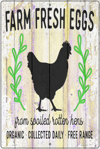 Farm Fresh Eggs Chickens Wholesale Novelty Large Metal Parking Sign