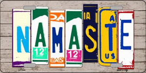 Namaste Wood License Plate Art Novelty Wholesale Metal License Plate