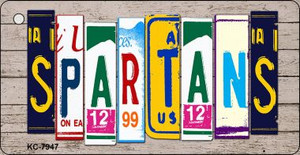 Spartans Wood License Plate Art Wholesale Novelty Key Chain