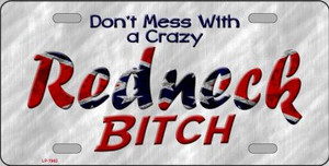 Dont Mess With Crazy Novelty Wholesale Metal License Plate LP-7982