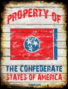 Property Of Tennessee Wholesale Metal Novelty Parking Sign