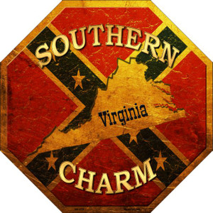 Southern Charm Virginia Wholesale Novelty Metal Octagon Sign