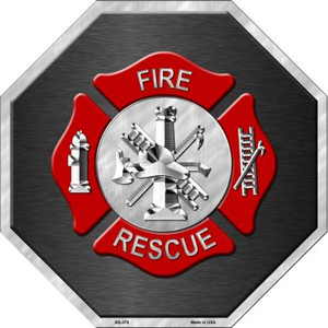 Fire Rescue Wholesale Metal Novelty Stop Sign