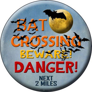Bat Crossing Wholesale Novelty Metal Circular Sign