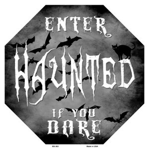 Haunted Wholesale Metal Novelty Stop Sign